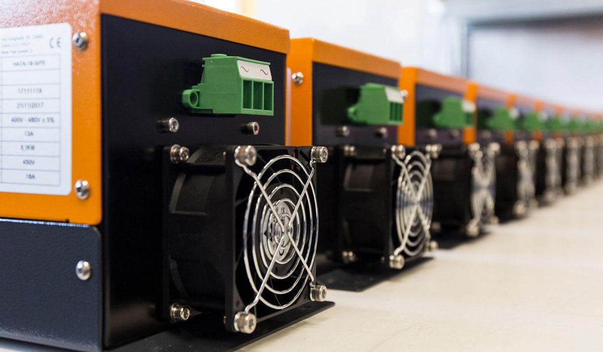 collaudo trasformatori convertori statici per lampade a led UV